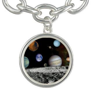 太陽系の航海者のイメージのモンタージュの宇宙の写真 ブレスレット