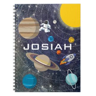 太陽系、宇宙飛行士および宇宙船 ノートブック