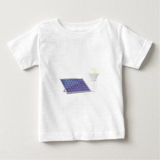 太陽電池パネルおよび電球 ベビーTシャツ