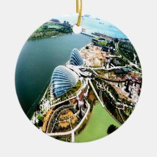 太陽電池パネルシンガポール セラミックオーナメント