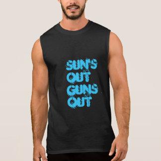 太陽 袖なしシャツ
