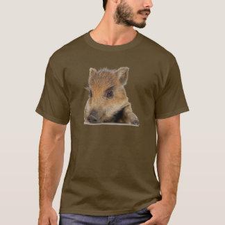 太鼓腹のブタの顔のTシャツ Tシャツ