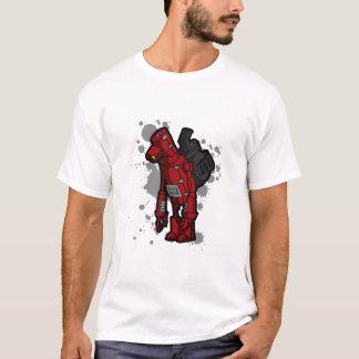 太鼓腹のロボット Tシャツ