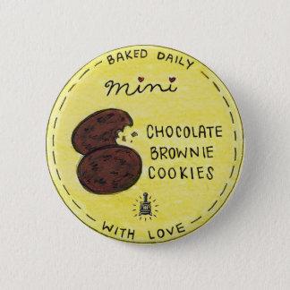 太鼓腹の新しい小型チョコレートブラウニーのクッキーのバッグのラベル 5.7CM 丸型バッジ