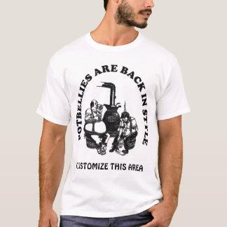 太鼓腹はカスタマイズ可能なスタイル-もどって来ます Tシャツ