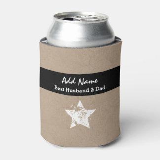 夫およびパパのモダンなタンの最も最高のな黒いリボンA03 缶クーラー