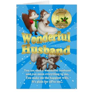 夫のクリスマスカード-愛リス カード