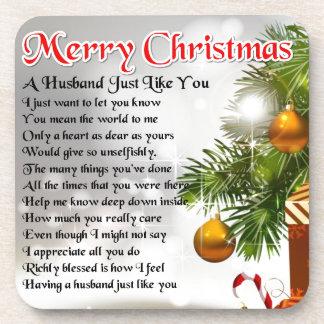 夫の詩-クリスマスのデザイン コースター