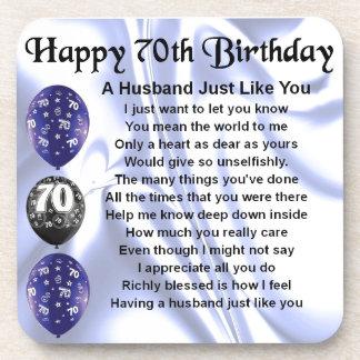 夫の詩-第70誕生日 コースター
