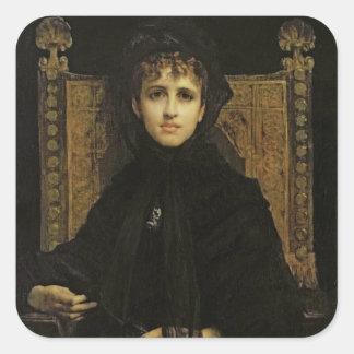 夫人のジョルジュ・ビゼー1878年ポートレート スクエアシール
