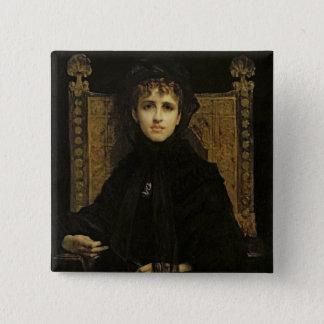 夫人のジョルジュ・ビゼー1878年ポートレート 5.1CM 正方形バッジ