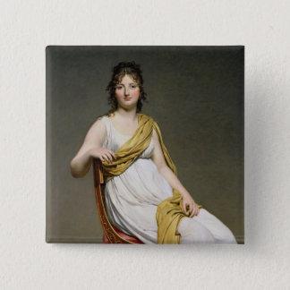 夫人のRaymond de Verninac 1798-99年ポートレート 5.1cm 正方形バッジ