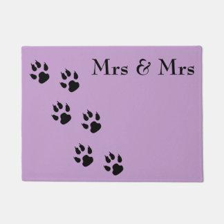 夫人及び夫人/pawprints ドアマット