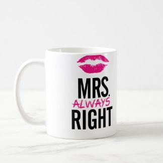 夫人常に右の唇のマグ コーヒーマグカップ