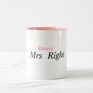 夫人権利 ツートーンマグカップ