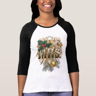 夫人。 初めてのクリスマス Tシャツ