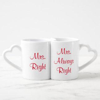 夫人RightおよびAlways Right Mug Set夫人 ペアカップ