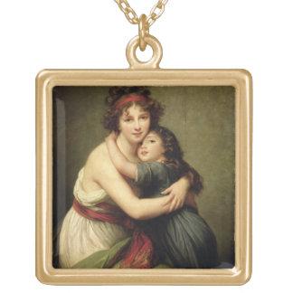 夫人Vigee-Lebrunおよび彼女の娘 ゴールドプレートネックレス