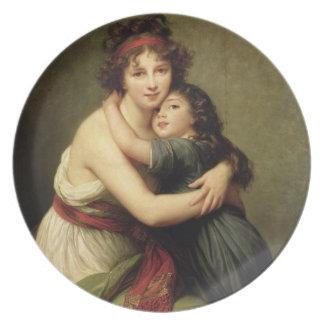 夫人Vigee-Lebrunおよび彼女の娘 プレート