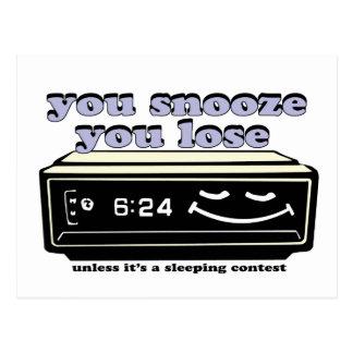 失います居眠りします ポストカード