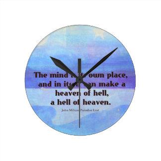 失った感動的なミルトンの引用文の楽園 ラウンド壁時計