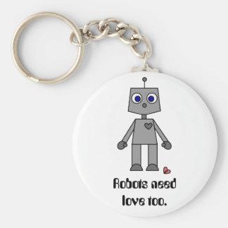 失恋のかわいいロボット キーホルダー