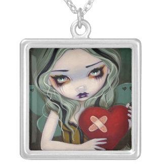失恋のネックレスのバレンタインの妖精の修理 シルバープレートネックレス