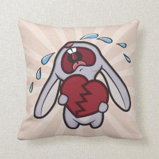 失恋の泣き叫びのバニーウサギ クッション