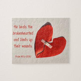 失恋の賛美歌の147:3の聖なる書物、経典の芸術の治療師 ジグソーパズル
