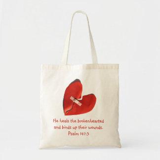 失恋の賛美歌の147:3の聖なる書物、経典の芸術の治療師 トートバッグ
