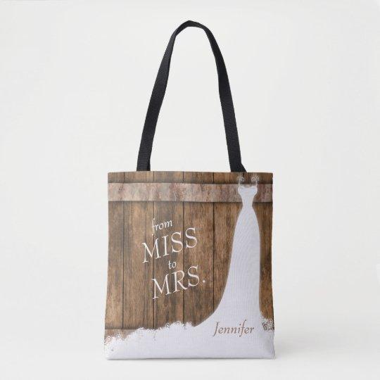 失敗から夫人への。 素朴な木製のスタイル トートバッグ