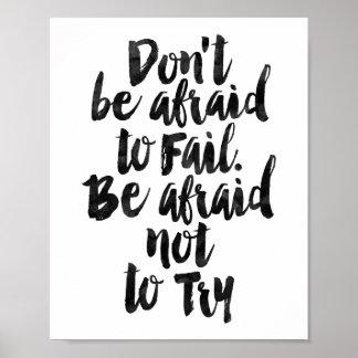 失敗すること恐れていないで下さいあないで下さい。 試みないこと恐れていて下さいあって下さい ポスター