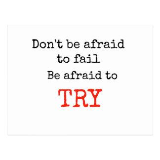 失敗すること恐れていないで下さいあります試みること恐れていますがあないで下さい ポストカード