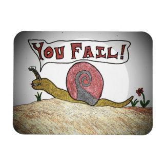 失敗のかたつむりは失敗言います マグネット