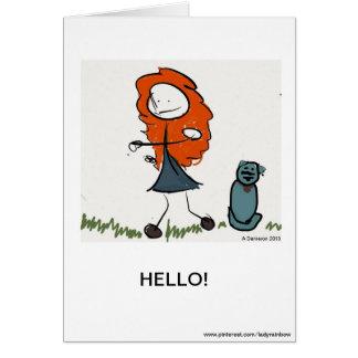 失敗のモーリーおよびRufusの挨拶状 グリーティングカード