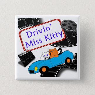 失敗の子猫の運転 5.1CM 正方形バッジ