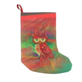 失敗の浪費の秋のファッションのフクロウのストッキング スモールクリスマスストッキング
