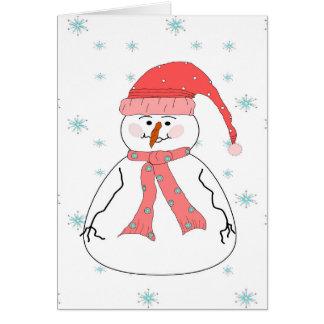 失敗の雪だるまの降雪のお洒落で初期のな芸術 カード