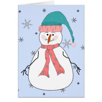 失敗の雪だるま、降雪の雪のお洒落な原住民 カード