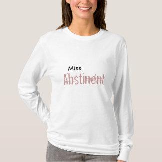 失敗のAbstinentのかわいい長袖の白いワイシャツ Tシャツ