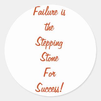 失敗は成功のための飛石です ラウンドシール