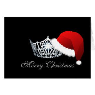失敗アメリカのスタイルのサンタの帽子の王冠のクリスマスカード カード