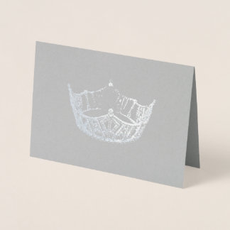 失敗アメリカのスタイルの銀の失敗の王冠カード 箔カード