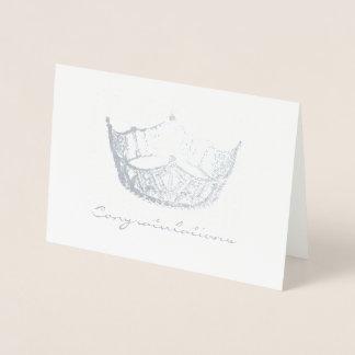 失敗アメリカのスタイルの銀ぱくの王冠のおめでとうカード 箔カード