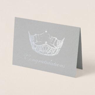 失敗アメリカのスタイルの銀ぱくの王冠カード 箔カード