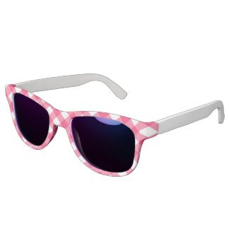 失敗アメリカのピンクの格子縞のプリントのサングラス サングラス