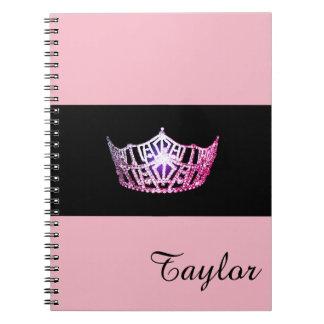 失敗アメリカのピンクの王冠のノートの名前をカスタムする ノートブック