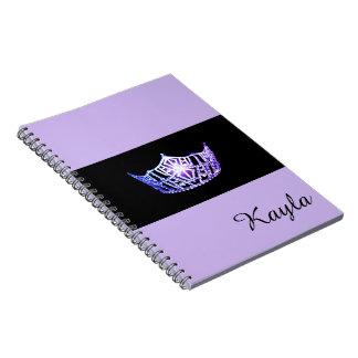 失敗アメリカのラベンダーの王冠のノートの名前をカスタムする ノートブック