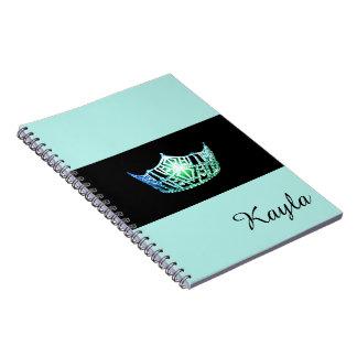 失敗アメリカの海緑の王冠のノートの名前をカスタムする ノートブック