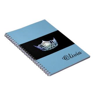 失敗アメリカの空色の王冠のノートの名前をカスタムする ノートブック